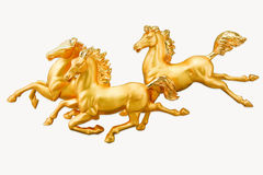 3 horse gold Stock Photo