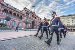 Horse Grenadiers in Buenos Aires, Argentina. Stock Image