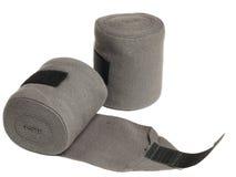 Horse grey knitwear bandages isolated on white Stock Photo