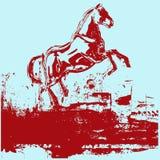 Horse Grunge Background. Background grunge illustration of a prancing horse royalty free illustration