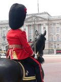 Horse guard. At Buckingham Palace royalty free stock photo