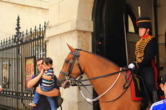 Horse Guard Changing London Stock Photo