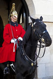 Horse Guard in London. A Horse Guard at Horse Guard's Parade in London royalty free stock photography