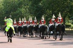 Horse Guards. Heading towards Whitehall in London, England Royalty Free Stock Photo