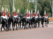 Horse Guards. Preparing to change the guards at Buckingham Palace Royalty Free Stock Image