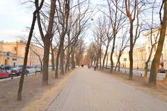 Horse Guards Boulevard in center of Petersburg. Royalty Free Stock Photos