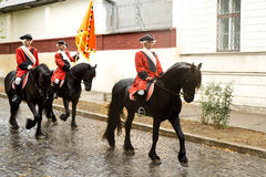 Horse guards of the fortress Alba Carolina Stock Photography