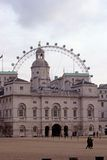 Horse Guards & the London Eye. The Horse Guards building and the London Eye in London Stock Photography