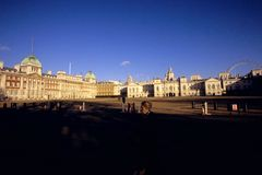 Horse Guards & the London Eye Stock Photos