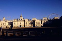 Horse Guards & the London Eye Stock Images