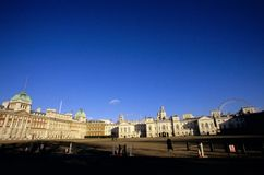 Horse Guards & the London Eye Royalty Free Stock Image