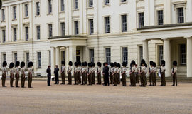Horse Guards in London waiting to be inspected Stock Image