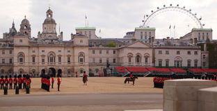 Horse guards parade in London. Rehearsal for trooping the colour at the horse guards parade on may 17, 2010 in London, UK Royalty Free Stock Photo