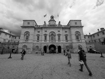 Horse Guards parade in London black and white Stock Photography