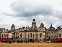 Horse Guards parade in London, hdr. LONDON, UK - CIRCA JUNE 2017: Horse Guards parade ground, high dynamic range Stock Image
