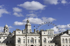 Horse Guards Parade, London. Horse Guards Parade on a sunny day, with the London Eye in the background Stock Image