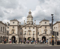 Horse Guards Parade, London. LONDON, UK - 28TH JUNE 2016: A view of the outside of Horse Guards Parade in London during the day. People can bve seen outside Royalty Free Stock Images