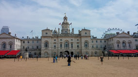 Horse Guards Parade in London. Unidentified people at Horse Guards Parade in London. This The area has been used for a variety of reviews, parades and other Royalty Free Stock Photography