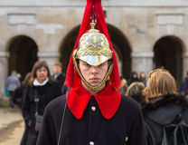 Horse Guards Soldier standing to attention Royalty Free Stock Photography
