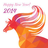 Horse - Happy New Year. Abstract illustration of geometric shapes. Royalty Free Stock Photo