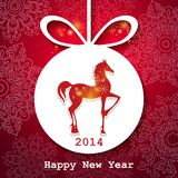 Horse. Happy New Year applique background. Vector illustration for your design.EPS10 stock illustration