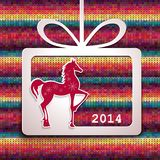 Horse. Happy New Year applique background. Vector illustration for your design.EPS10 royalty free illustration