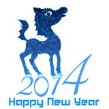 Horse. Happy new year 2014. Vector eps 10 Royalty Free Stock Images