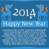 Horse. Happy new year 2014. Vector eps 10. Royalty Free Stock Image