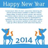 Horse. Happy new year 2014. Vector eps 10. Stock Photo