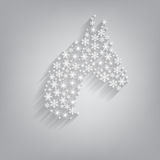 Horse. Happy new year 2014. Vector illustration Royalty Free Stock Photography