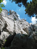 Horse head. Cliffs from Gorski kotar, mountain region of Croatia Royalty Free Stock Image