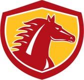 Horse Head Angry Shield Retro Stock Photography