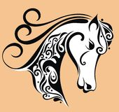 Horse head background Stock Photos