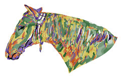 Horse head colored (psychedelic) Royalty Free Stock Photos