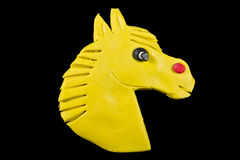 The horse head created from plasticine Royalty Free Stock Photo