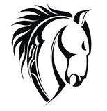 Horse head design. Horse head vector design of 2014 year Stock Photography