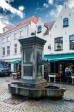 Horse Head Drinking Fountain in Bruges Stock Photography