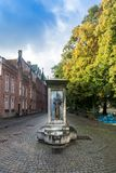 Horse Head Drinking Fountain in Bruges Stock Photos