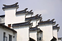 Horse Head Gables in Nanjing Stock Photo