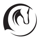 Horse Head Icon. A silhouette drawing of a horse head Royalty Free Stock Image