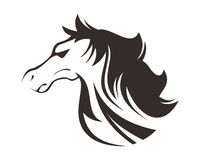 HORSE HEAD LINE ART DRAWING ILLUSTRATION Stock Images