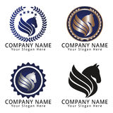 Horse Head Logo Concept Stock Photos