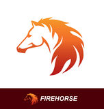 Horse head with a mane looking like a fire flame Royalty Free Stock Photos
