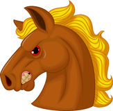 Horse head mascot cartoon character Royalty Free Stock Photography