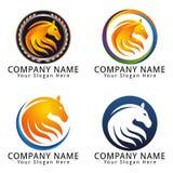 Horse Head Modern Concept Logo Stock Images