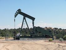 Horse-head oil-pump Stock Photo