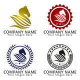 Horse Head Pegasus Logo Concept Royalty Free Stock Photography