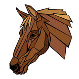 Horse head profile vector illustration Royalty Free Stock Images