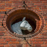 Horse head sculpture Stock Photography