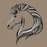 Horse head sketch Royalty Free Stock Photos
